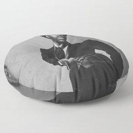 Boogie Horror: 1800's - Black and White Floor Pillow