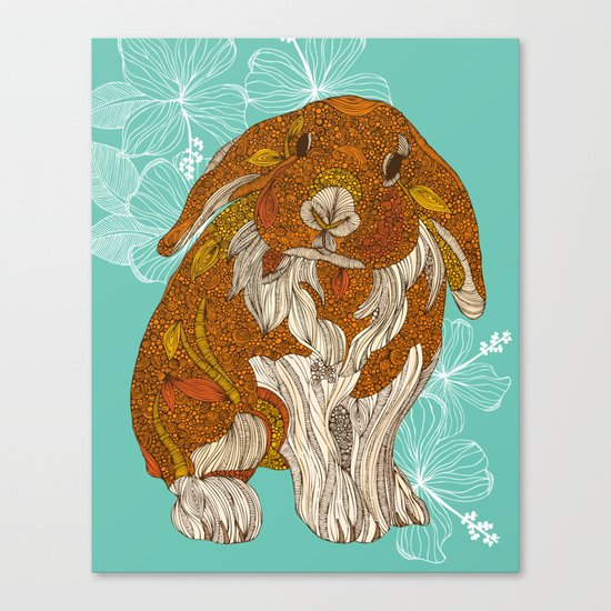 Hello little bunny Canvas Print