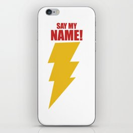Shazam (Say My Name!) DC Comics Fan Art iPhone Skin