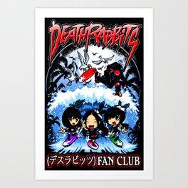 DR Fan Club (Deathrabbits X Natsu) Art Print