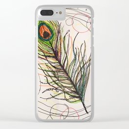 Simple Feather Clear iPhone Case