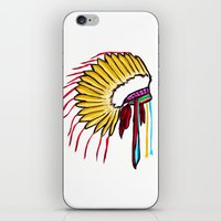 headdress iPhone & iPod Skins featuring Headdress by Relic X