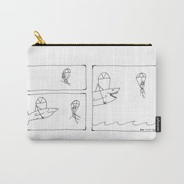Sharks and Parachutes Carry-All Pouch