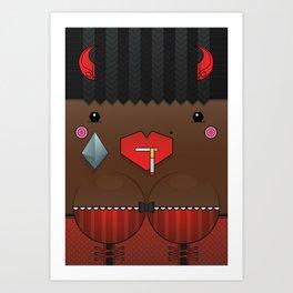 Cookie the Valentine's Spirit Art Print