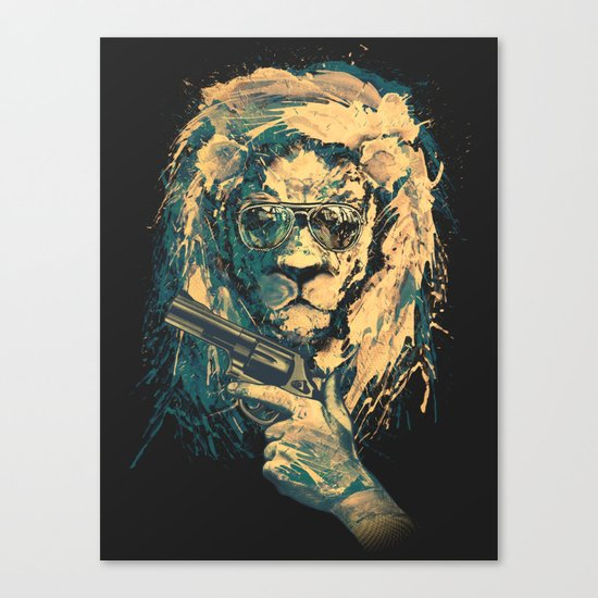 Lion is always Cool Canvas Print