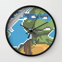 teenage mutant ninja turtles Wall Clocks featuring Teenage Mutant Ninja Turtles - Leonardo by James Brunner