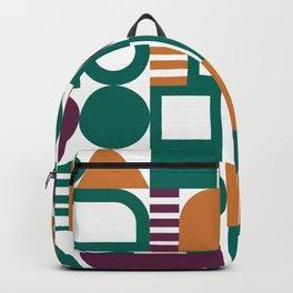 Geometric pattern green bold bright  Backpack