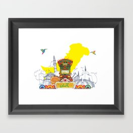 Truck Art Pakistan Framed Art Print