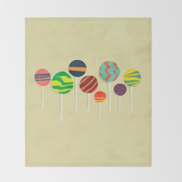 Sweet lollipop Throw Blanket