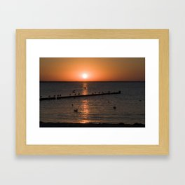 Summersunset at the Beach - Isle Ruegen Framed Art Print