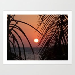 Sunset over the Carribean Art Print