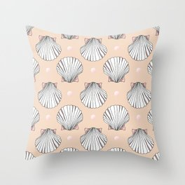 Shell & Pearl Throw Pillow