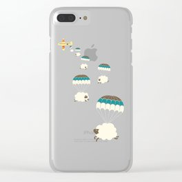 Sheepy clouds Clear iPhone Case