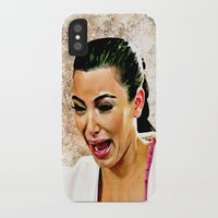 kardashian iPhone & iPod Cases featuring Funny Cute Ugly Crying face iPhone 4 4s 5 5c 6, pillow case, mugs and tshirt by Greenlight8