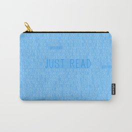 Just Read Blue Carry-All Pouch