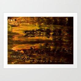 Abstract artwork #14.2 - The Golden Light Of The Universe - Abstract painting Art Print