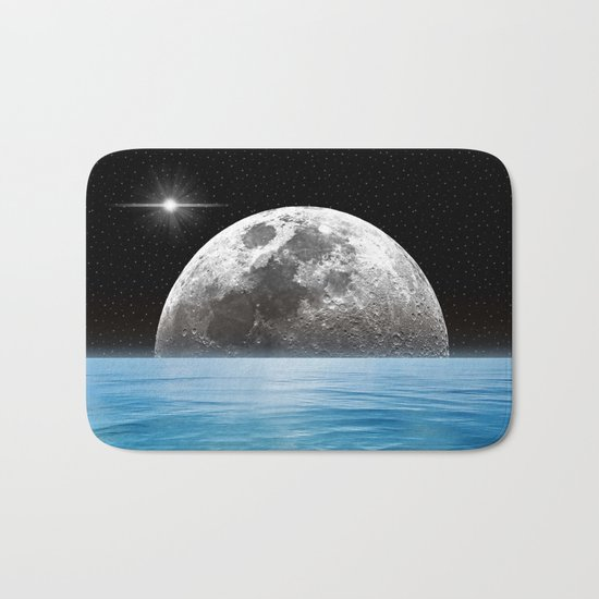 Moon Ocean Bath Mat