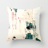 movie posters Throw Pillows featuring Posters by Patterns and Textures