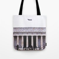 lincoln Tote Bags featuring Lincoln by Sean Horton
