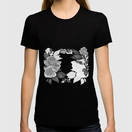 Abstract roses frame T-shirt