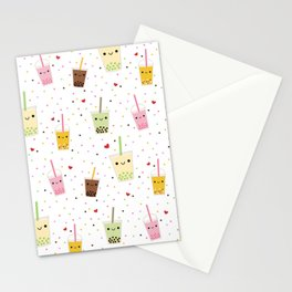 Colorful Happy Bubble Tea Stationery Cards