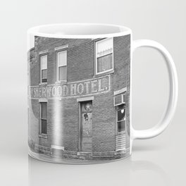 Train and Sherwood Hotel Coffee Mug