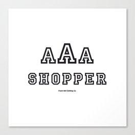 Triple-A Shopper Canvas Print