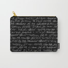 Literary Giants Pattern Carry-All Pouch