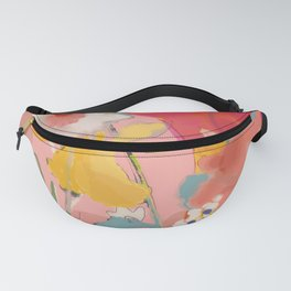 blooming abstract pink Fanny Pack