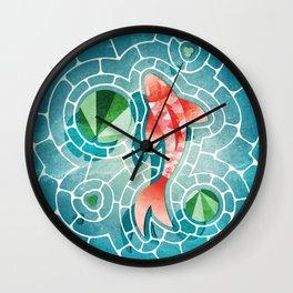 Koi Fish and Lily Pads  Wall Clock