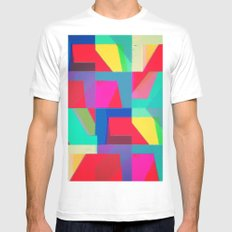 Colorful Truth. Red MEDIUM White Mens Fitted Tee