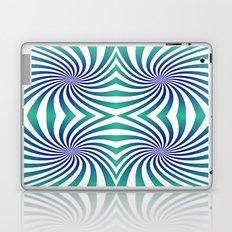 Green blue swirl Laptop & iPad Skin