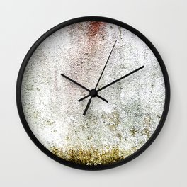Abstract wall red painting Wall Clock