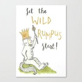 Let the Wild Rumpus Start Canvas Print