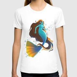 colorful mermaid swimming T-shirt