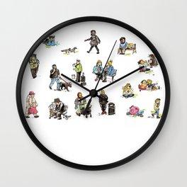 People in Leeds UK Wall Clock