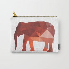 Elephant - Red geomatric Carry-All Pouch