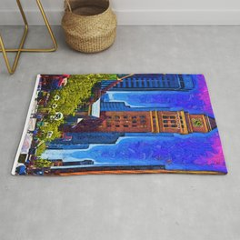 Denver 16th Street Mall In Fauvism Rug