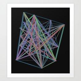 Geometric Diamond Light Prism Art Print