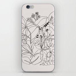 Charcoal Tropics iPhone Skin