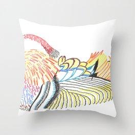 wood duck Throw Pillow