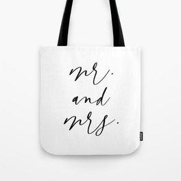 Mr & Mrs Tote Bag
