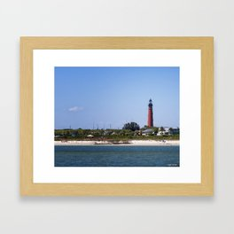 Sunny Day at Ponce Inlet Framed Art Print