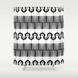 I pick my afro too - black) Shower Curtain