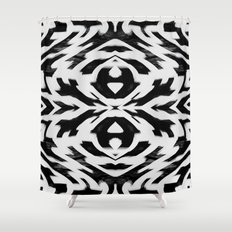 Arrow Tribe Black & White Shower Curtain