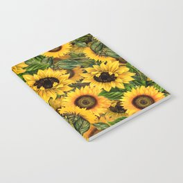 Vintage & Shabby Chic - Noon Sunflowers Garden Notebook
