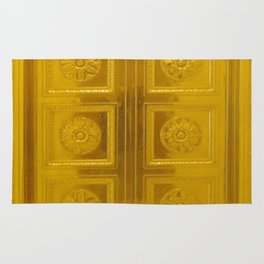 Gold Doors photography Rug