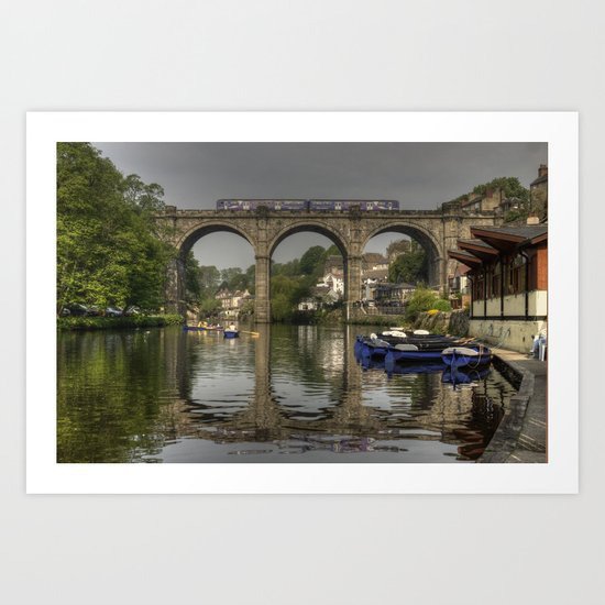 Knareborough viaduct  Art Print