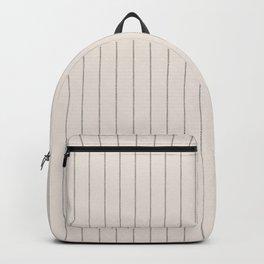 French Cream Linen Stripe Backpack