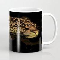 jaguar Mugs featuring Jaguar by Die Farbenfluesterin